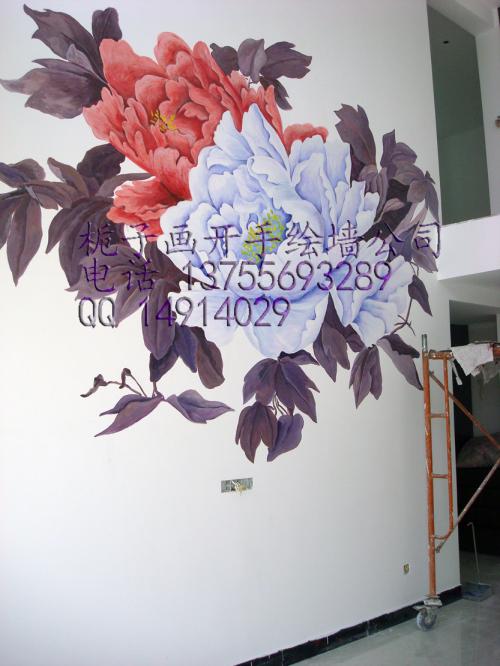 然而手绘墙使用的丙烯颜料是环保无味无毒的